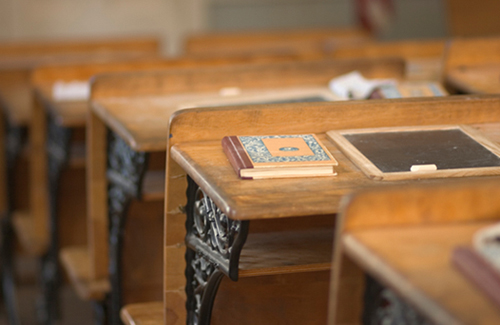 Antique-school-desk